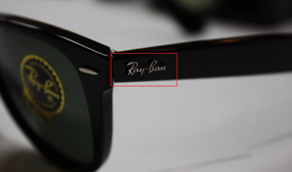 autocollant ray ban lunette